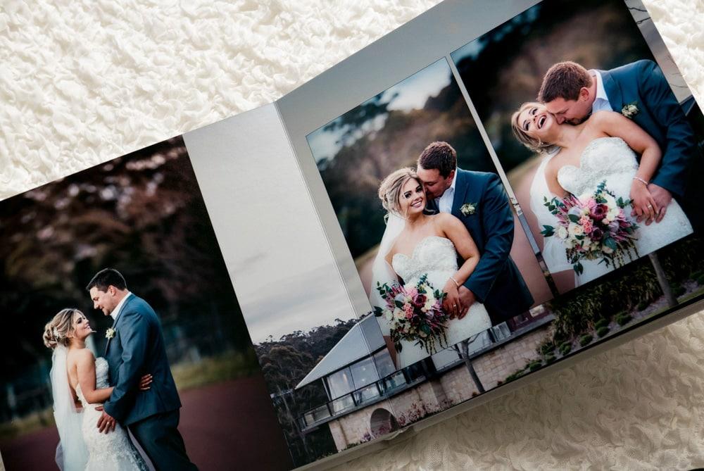 Wedding album page spread